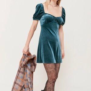 Green velvet urban outfitters dress